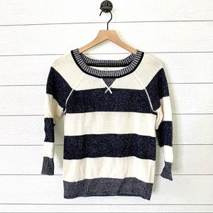 J. Crew factory striped plaited sweater